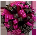 black hot pink bows, car bows, large bows, big bows, larg gift bows