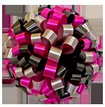 black hot pink silver bows, car bows, large bows, big bows, larg gift bows
