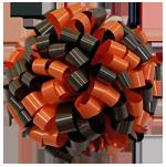 black orange bows, car bows, large bows, big bows, larg gift bows