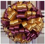 burgundy gold bows, car bows, large bows, big bows, larg gift bows