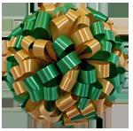 green gold bows, car bows, large bows, big bows, larg gift bows