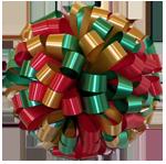 green gold red bows, car bows, large bows, big bows, larg gift bows