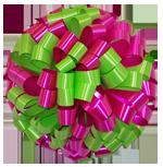 hot pink lime bows, car bows, large bows, big bows, larg gift bows