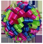 hot pink lime royal blue bows, car bows, large bows, big bows, larg gift bows