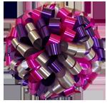 hot pink purple silver bows, car bows, large bows, big bows, larg gift bows