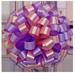 lavender pastel pink bows, car bows, large bows, big bows, larg gift bows