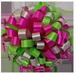 lime hot pink silver bows, car bows, large bows, big bows, larg gift bows