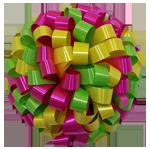 lime hot pink yellow bows, car bows, large bows, big bows, larg gift bows