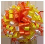 orange yellow white bows, car bows, large bows, big bows, larg gift bows
