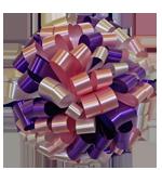 pastel pink purple bows, car bows, large bows, big bows, larg gift bows