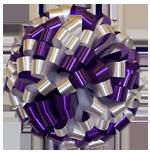 purple white bows, car bows, large bows, big bows, larg gift bows