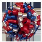 red royal blue white bows, car bows, large bows, big bows, larg gift bows