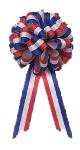 red white and blue patriotic bow